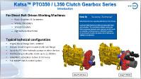 Katsa™ PTO350 - L350 Clutch Gearbox Series
